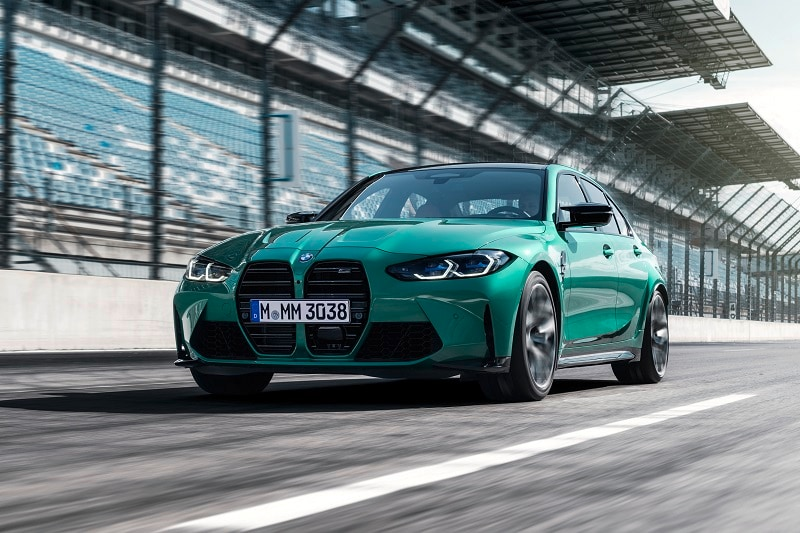 Exterior view of the 2021 BMW M3