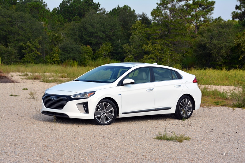 Exterior view of the 2017 Hyundai Ioniq Hybrid