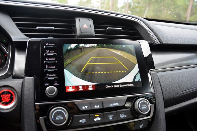 Backup camera in the 2020 Nissan Titan