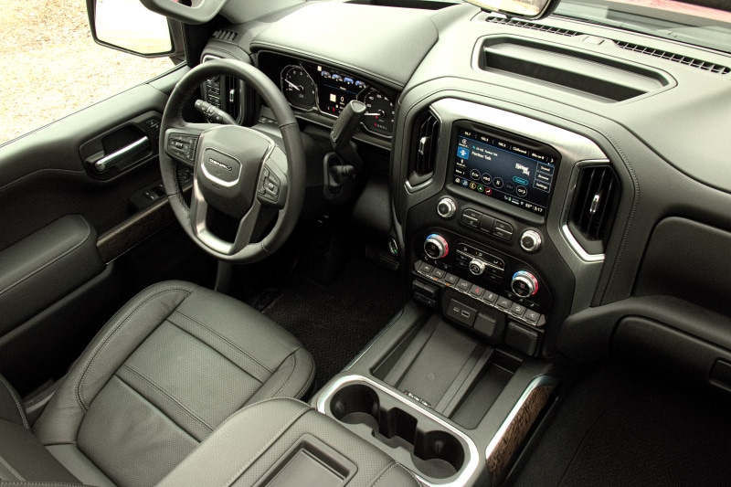 Interior view of the 2021 GMC Sierra Denali CarbonPro Edition