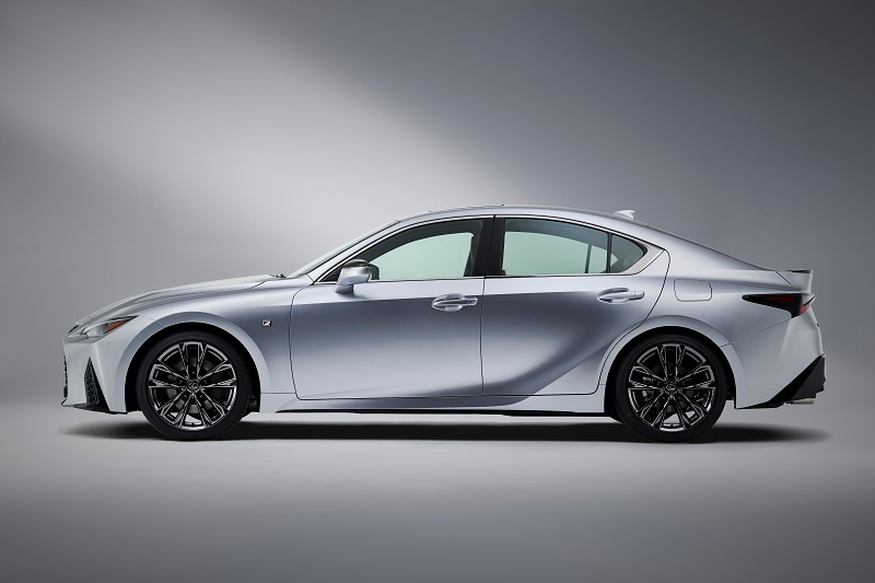 Exterior view of the 2021 Lexus IS
