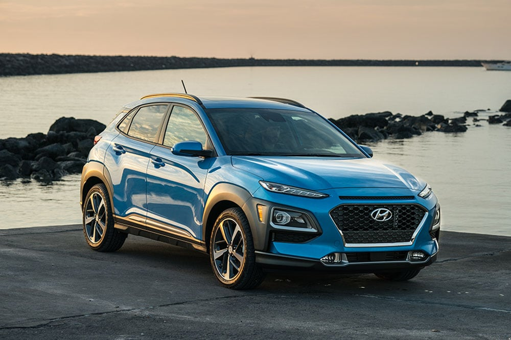 See the exterior of the 2020 2020 Hyundai Kona Ultimate