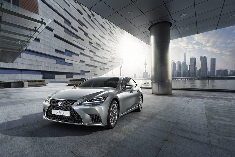 Exterior view of the 2021 Lexus LS