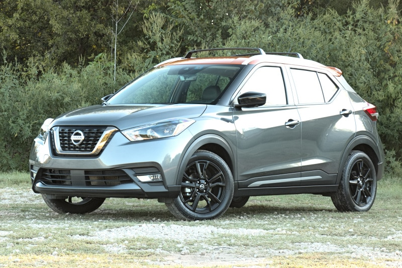 Exterior view of the 2020 Nissan Kicks