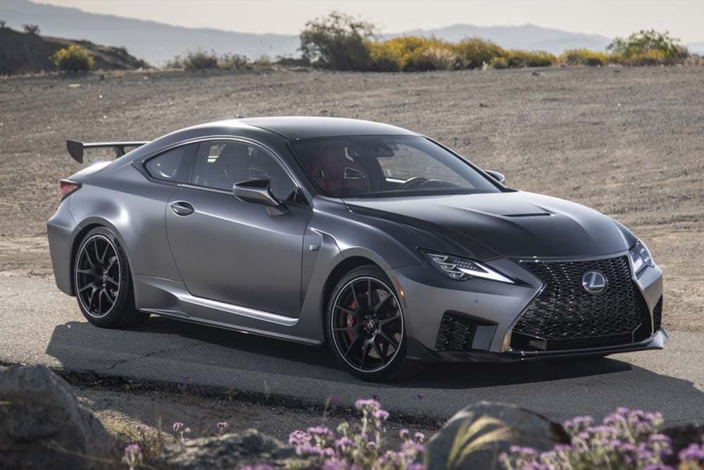 See the exterior of the 2020 Lexus RC F