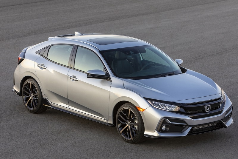 Exterior view of the Honda Civic