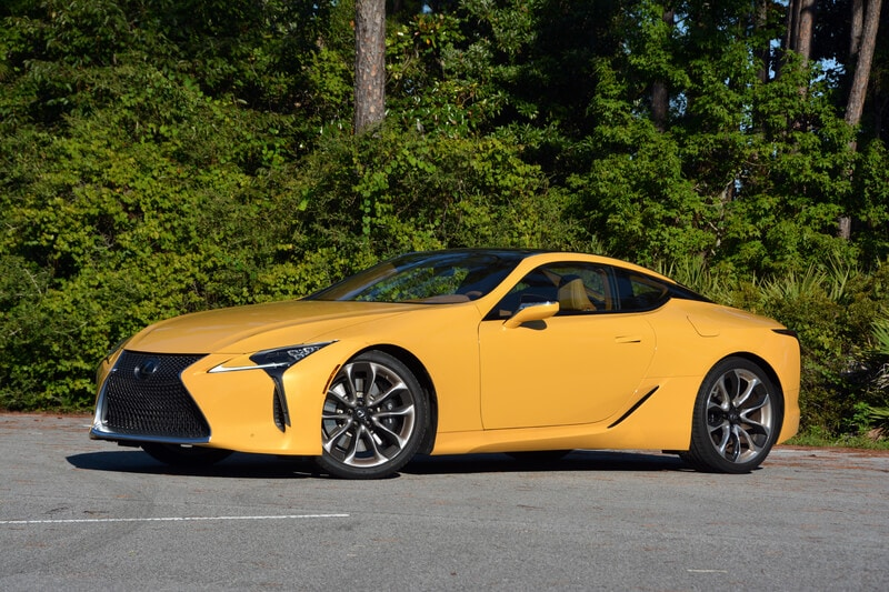 Exterior view of the 2019 Lexus LC 500