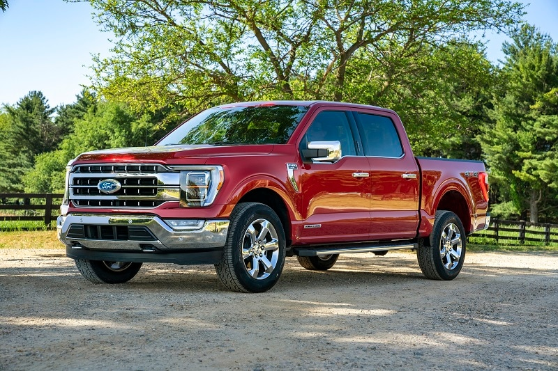 Exterior view of the 2021 Ford F-150