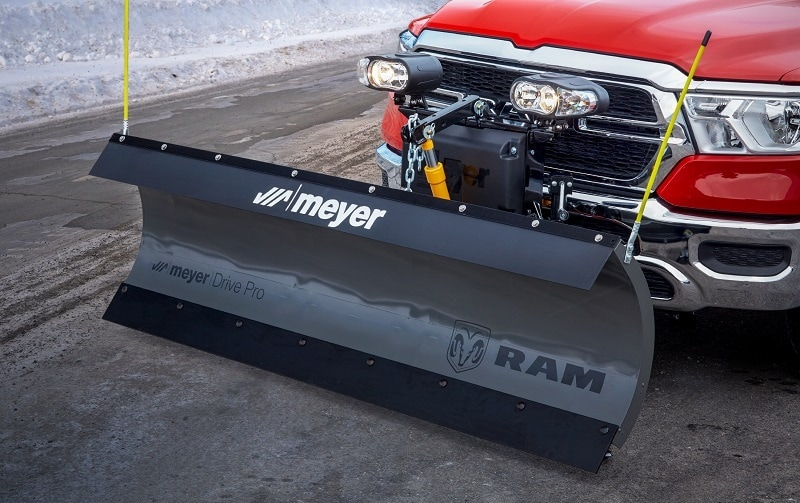 RAM trucks sport a snow plow add-on