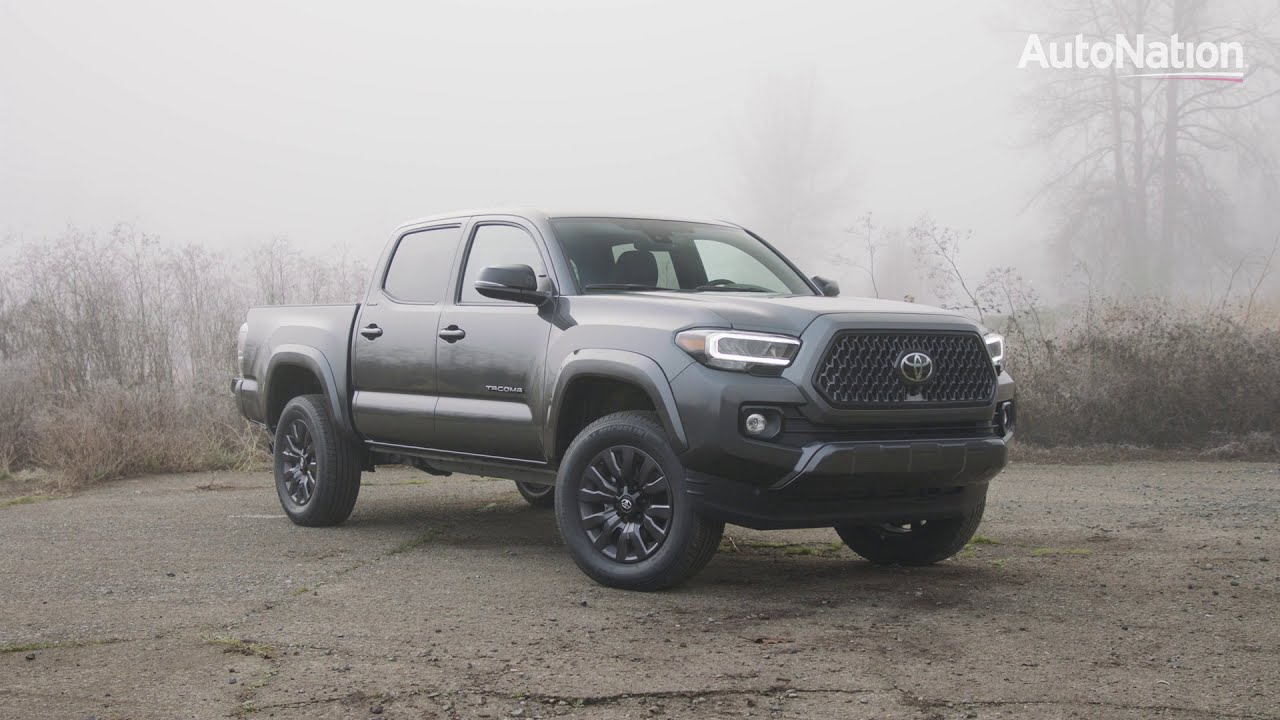 See the body of the 2021 Toyota Tacoma Nightshade Edition