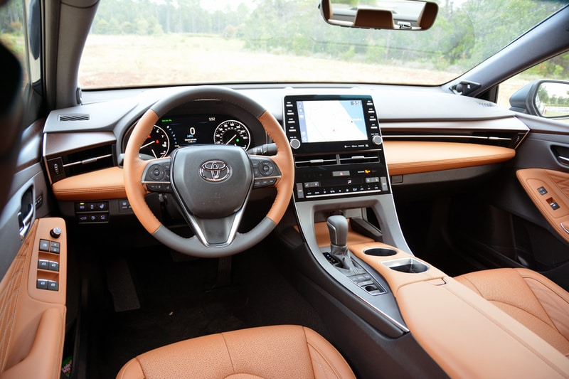 Interior view of the 2020 Toyota Avalon Limited