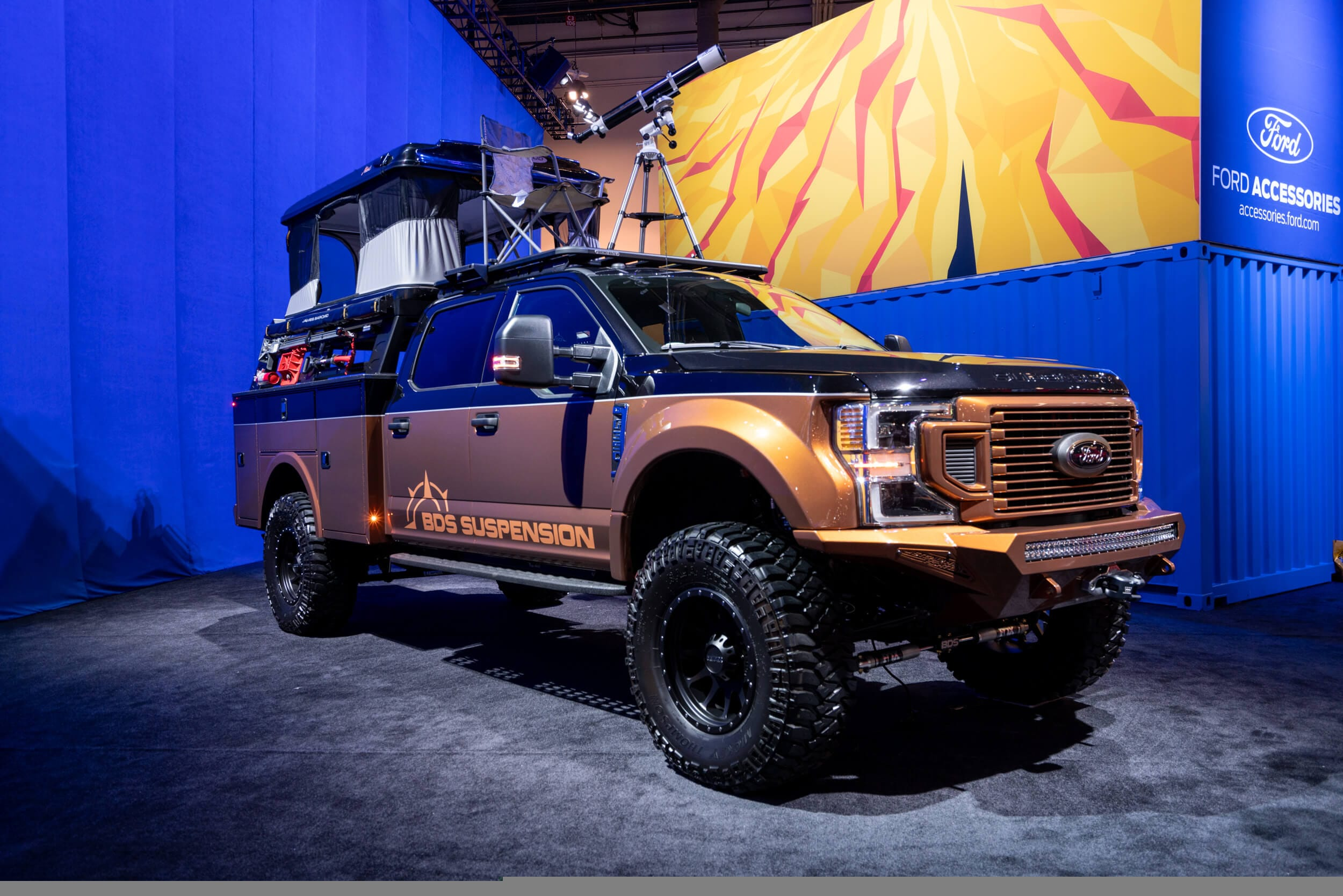 This custom Ford F-350 is ready to take you overlanding in style.