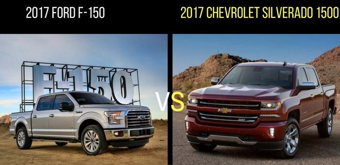 F150 Vs Silverado >> Head To Head 2017 Ford F 150 Vs 2017 Chevrolet Silverado