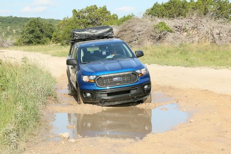Even with the extra weight over the bed, the Ranger's 2.3-liter EcoBoost four-cylinder engine had plenty of get-up-and-go.