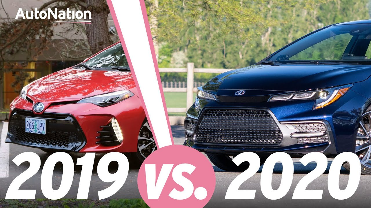 Image composition of the 2020 Toyota Corolla vs. 2019 Corolla