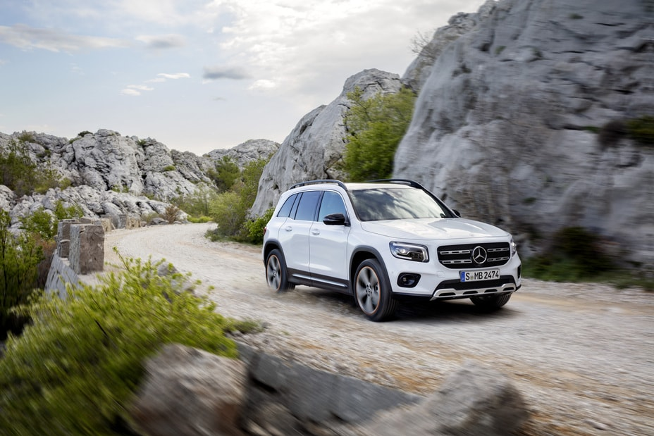 Exterior view of the 2021 Mercedes-Benz GLB 250