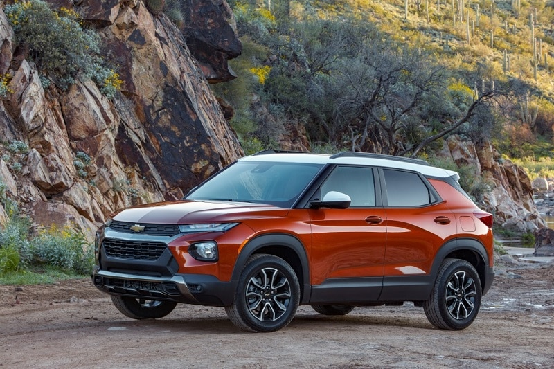 See the body of the 2021 Chevrolet Trailblazer RS AWD