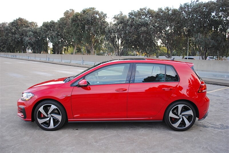 Tornado Red is a great color choice for the Volkswagen GTI.