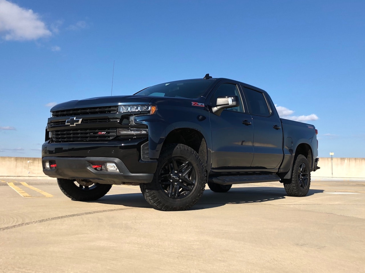 Image of a 2019 Chevrolet Silverado Trail Boss vehicle