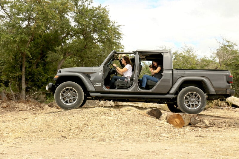 If you have the chance to take the doors off the Jeep Gladiator, take the doors off.