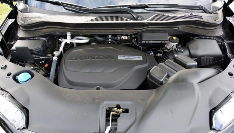 The Passport features a 3.5-liter V6 with 280 hp and 262 lb-ft. It's paired with a nine-speed transmission.