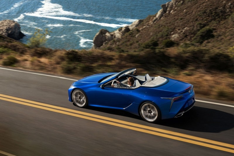 Body and exterior view of the 2021 Lexus LC 500