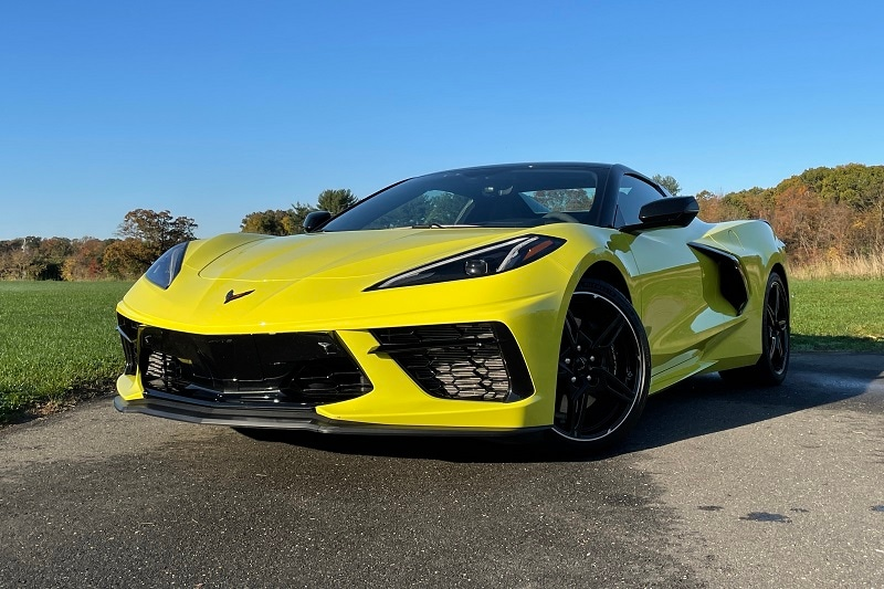 Exterior view of the 2020 Chevrolet Corvette Convertible