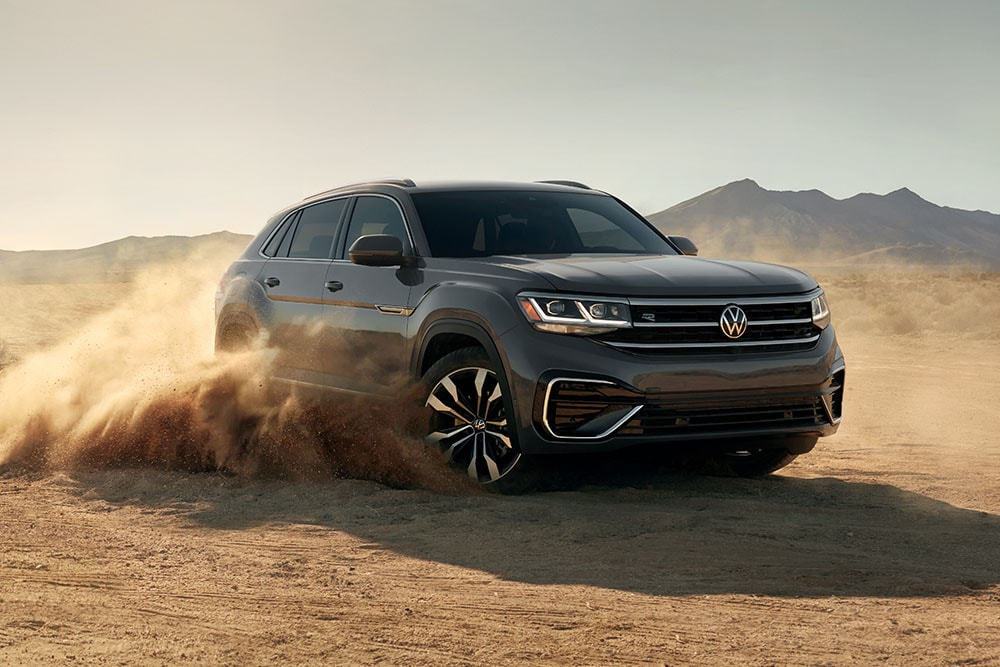 See the exterior of the 2020 Volkswagen Atlas Cross Sport