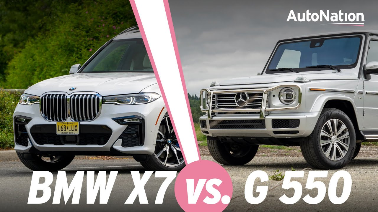 Image commposite of BMW X7 and the Mercedes-Benz G550