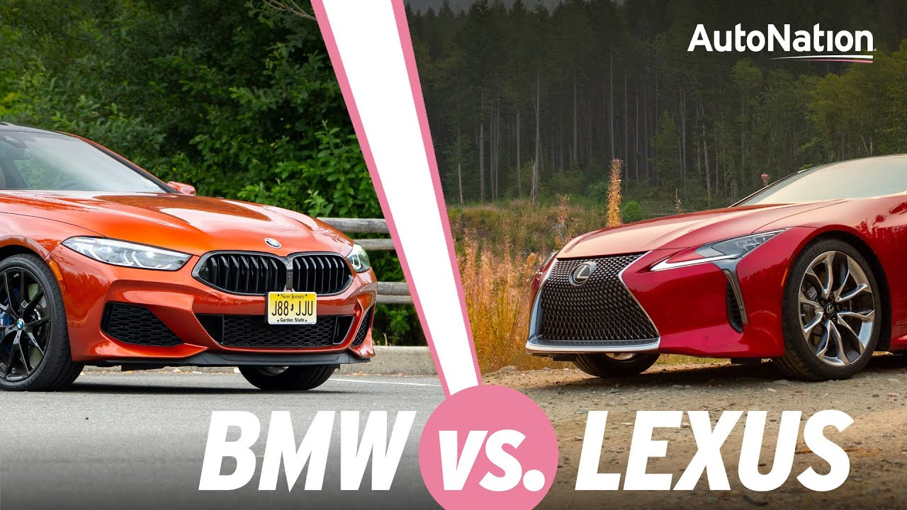 Image commposite of Lexus LC 500 and BMW M850i