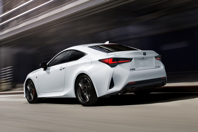 Exterior view of the 2021 Lexus RC
