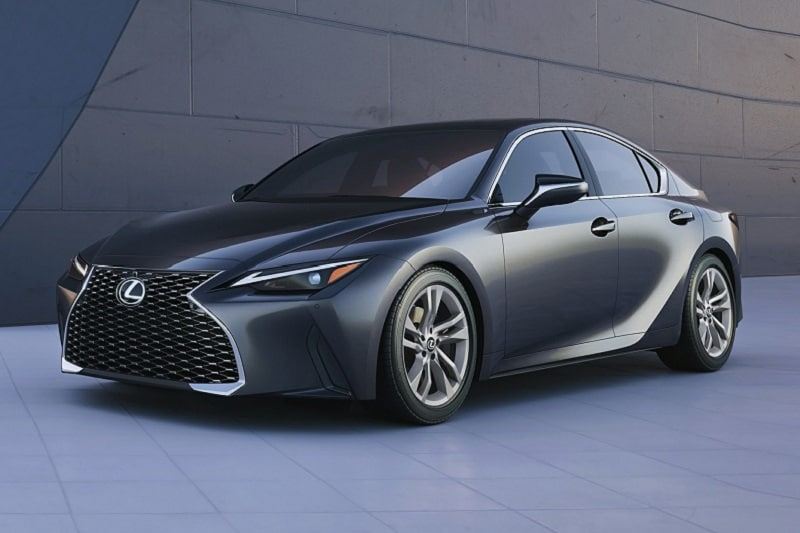 Exterior view of the 2021 Lexus IS 300
