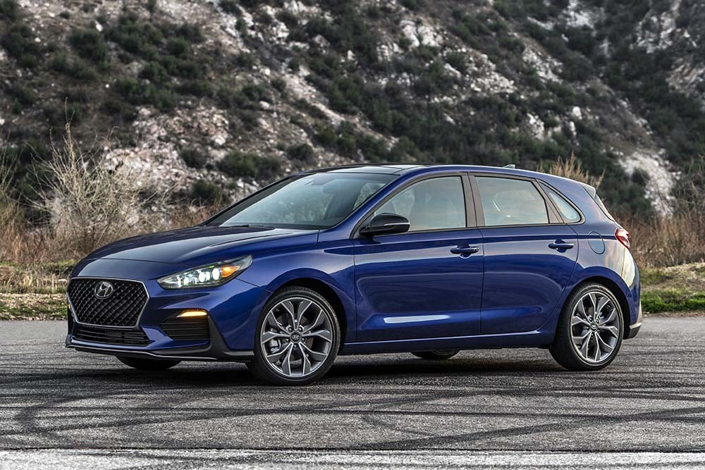 Exterior view of the 2020 Hyundai Elantra GT N Line