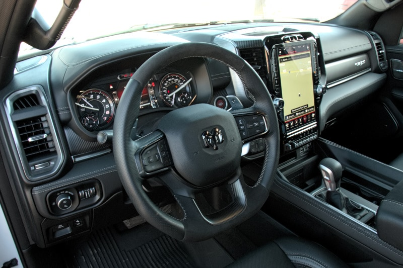 Interior view of the 2020 RAM 1500 TRX