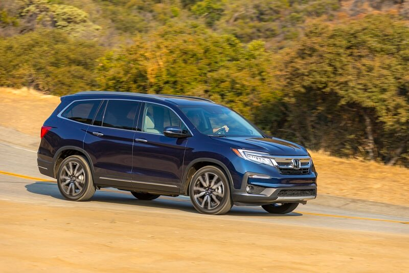 Even at its base price, the Honda Pilot's interior feels like a great place to party.