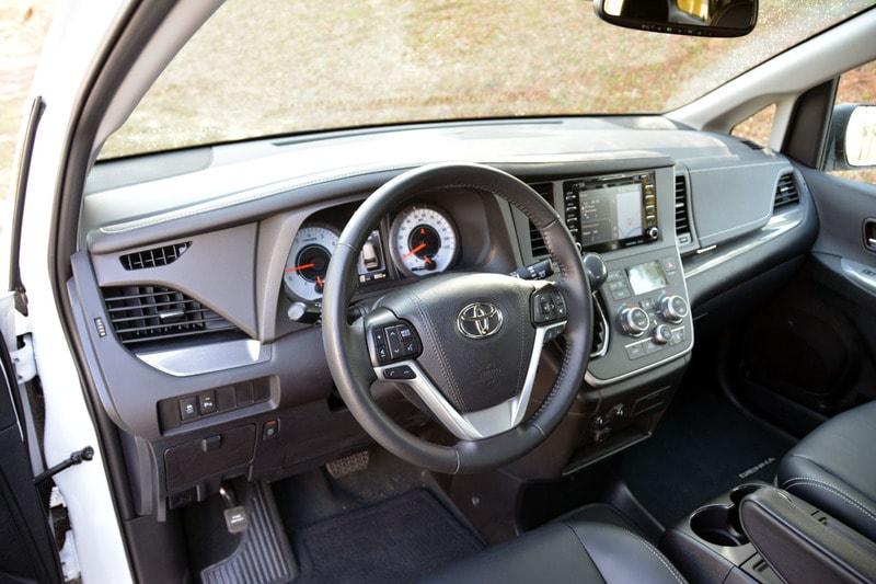 Interior view of the 2020 Toyota Sienna Nightshade