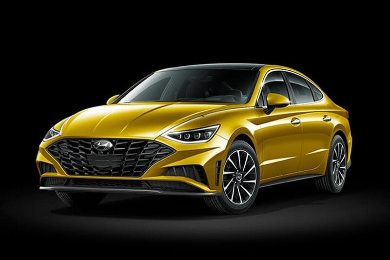 The 2020 Hyundai Sonata in Glowing Yellow