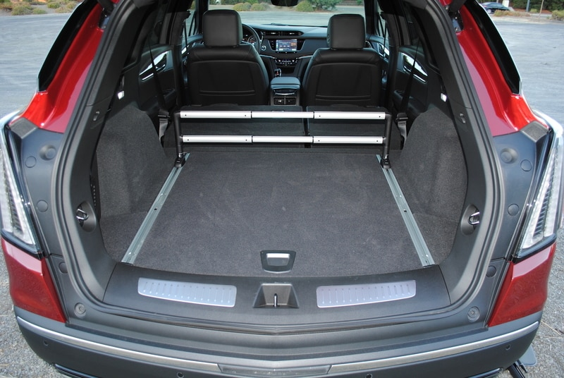 With the seats folded, there's a whopping 63 cubic-feet of storage available.