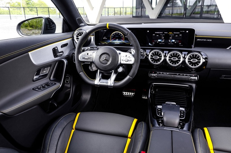 Interior view of the 2020 Mercedes-AMG CLA 45