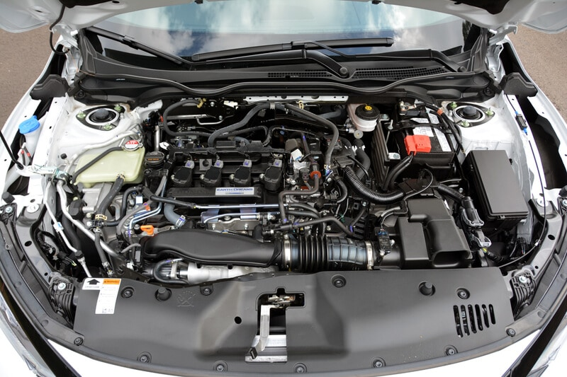 Engine bay of the 2020 Nissan Titan