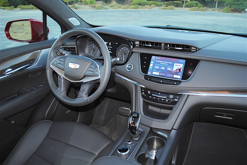 The cabin of the 2020 XT5 Sport is a comforting blend of analog and digital technology.