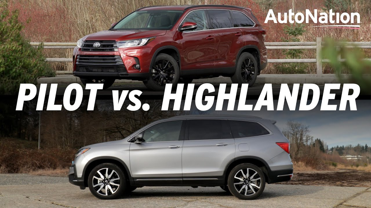 Image composition of the 2019 Toyota Highlander vs. 2019 Honda Pilot