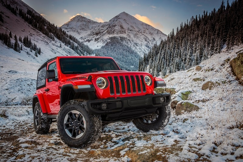 Exterior view of the Jeep Wrangler