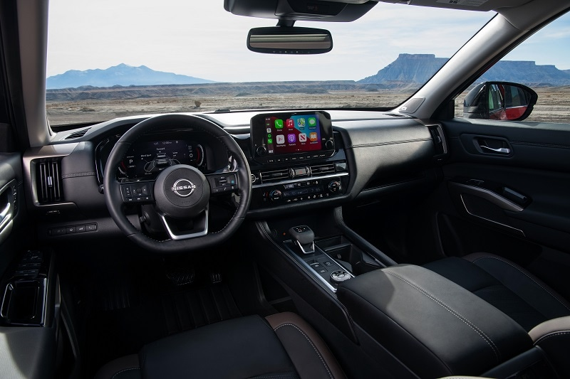 Interior view of the 2022 Nissan Pathfinder