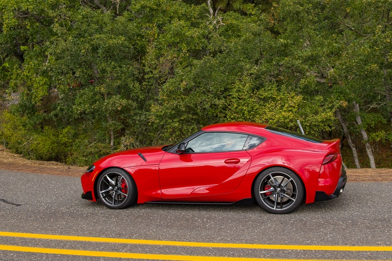 The Toyota Supra never feels under-powered, and there's plenty of twist on tap in any gear.