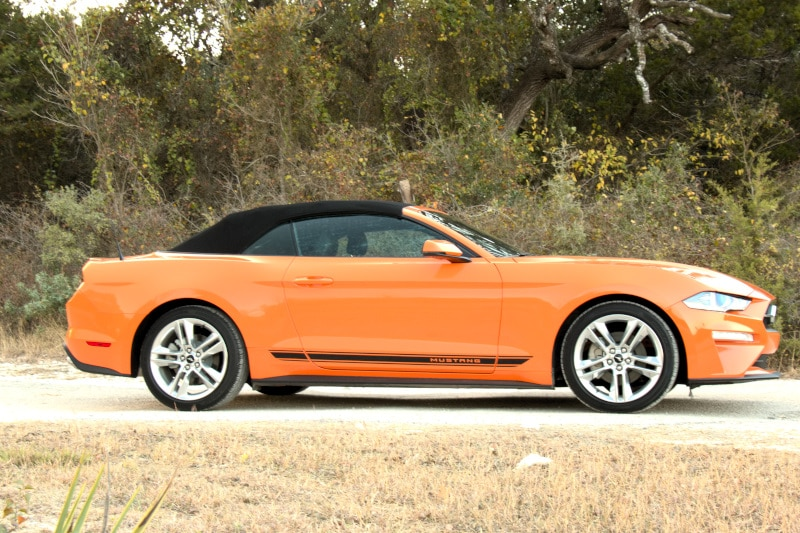 Exterior view of the 2020 Ford Mustang EcoBoost Premium Convertible