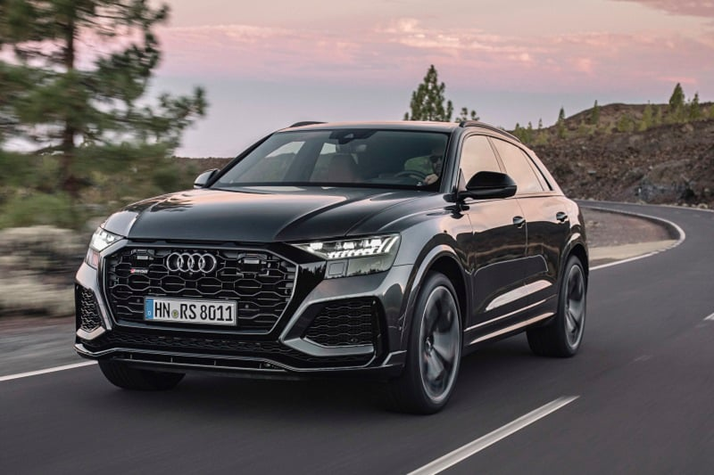 Exterior view of the Audi RS Q8