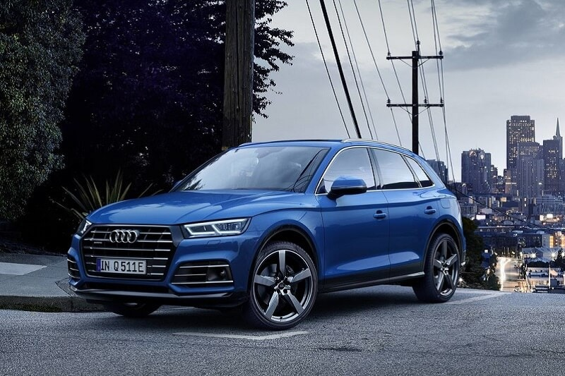 Image of a blue Audi SUV