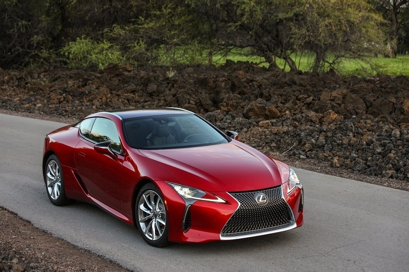 Exterior view of the 2021 Lexus LC