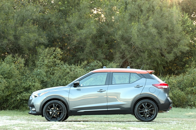See the exterior of the 2020 Nissan Kicks SR